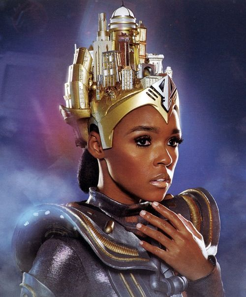 Janelle Monae as an android posing for the artwork of her second album - 'archandroid'.
