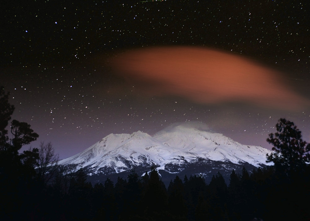 Mt. Shasta with Red Cloud. (credit:  Jeff Leland  )
