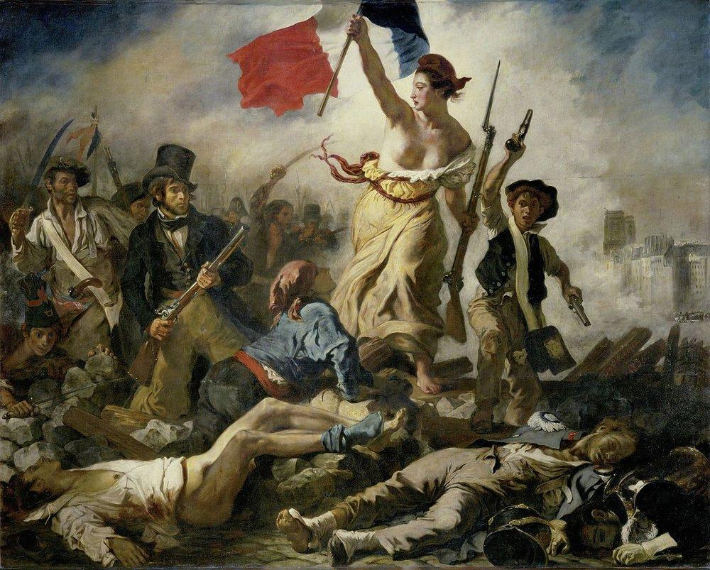 Liberty guiding the People. Oil on Canvas. 260cm x 325cm. (Credit: Eugene De Lacroix. 1830)