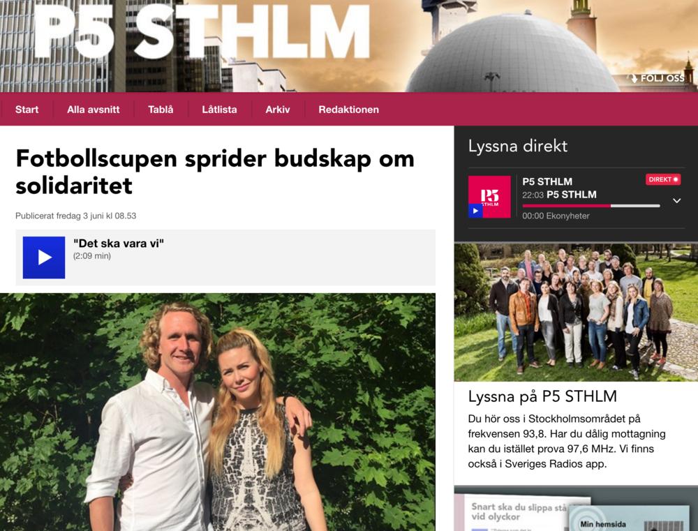 P5 Stockholm intervjuar team bakom Tillsammans Cup