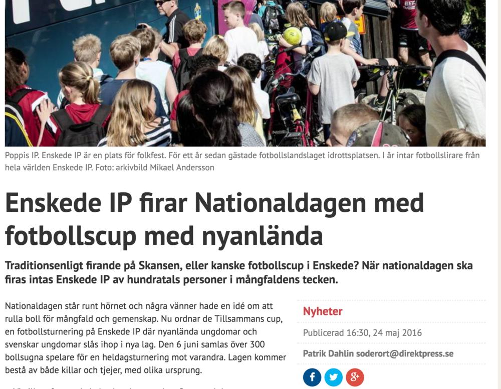 Stockholmdirekt rapporterar Tillsammans Cup