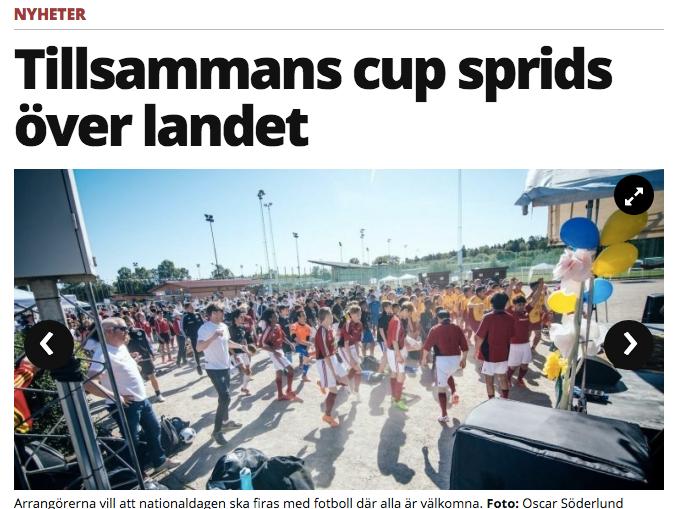 """Mitti: """"Tillsammans Cup sprids över landet"""""""