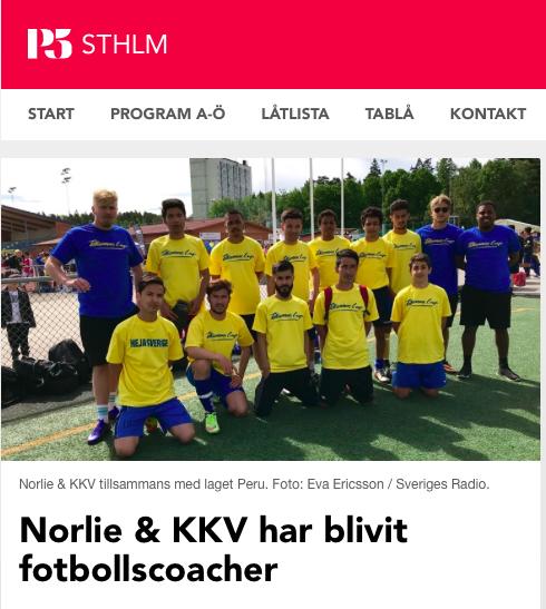 P5 på plats och intervjuar Norlie & KKV
