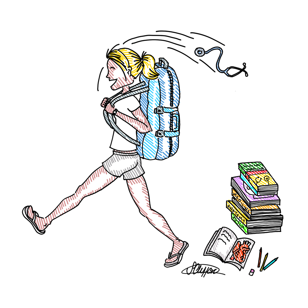 Sarah Clifford Illustration Backpack