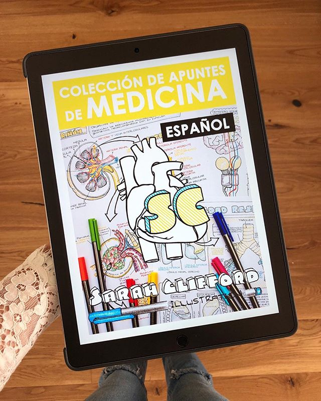 It's been 9 months since this project was completed and released! 50 wonderful medical students and doctors from almost every Spanish-speaking country in the world came together to translate my medical notes collection! 😁🙏🏼 Available on my website (link in bio!). If you're looking to improve your English-Spanish medical skills, there's a special deal to get BOTH packs for a biiiig discount! Hope you're 2019 is going well so far! 😚 #medicalstudent #medicine #medicina #med #medschool #doctora #apuntes #estudiante #study #ipadpro