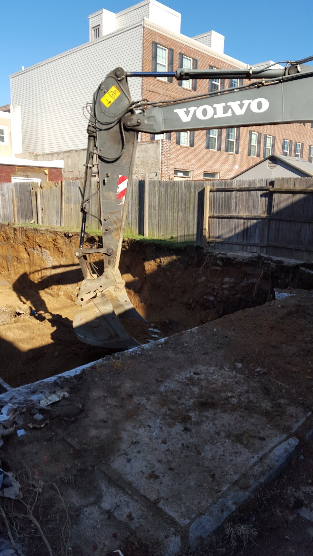 foundation excavation gets started