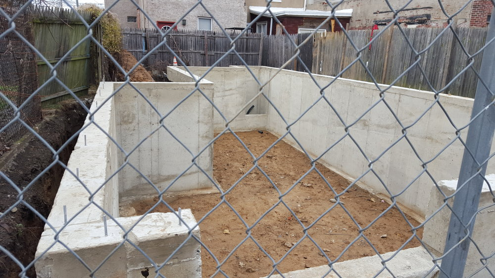 basement walls are poured