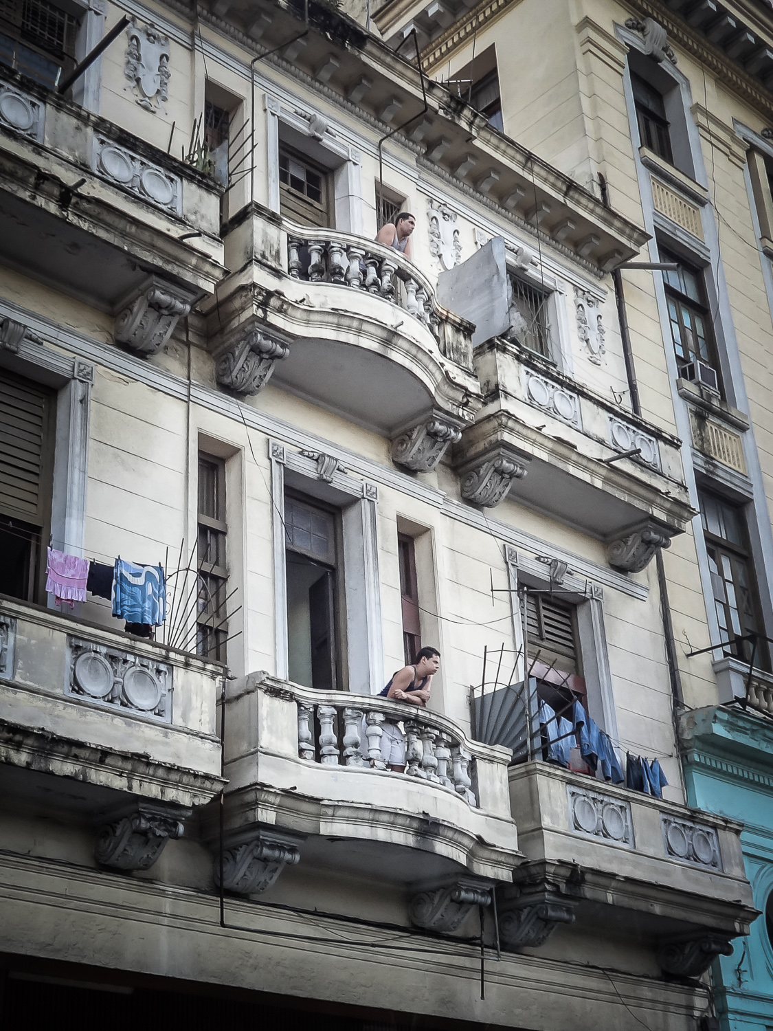 Two Men, Two Balconies