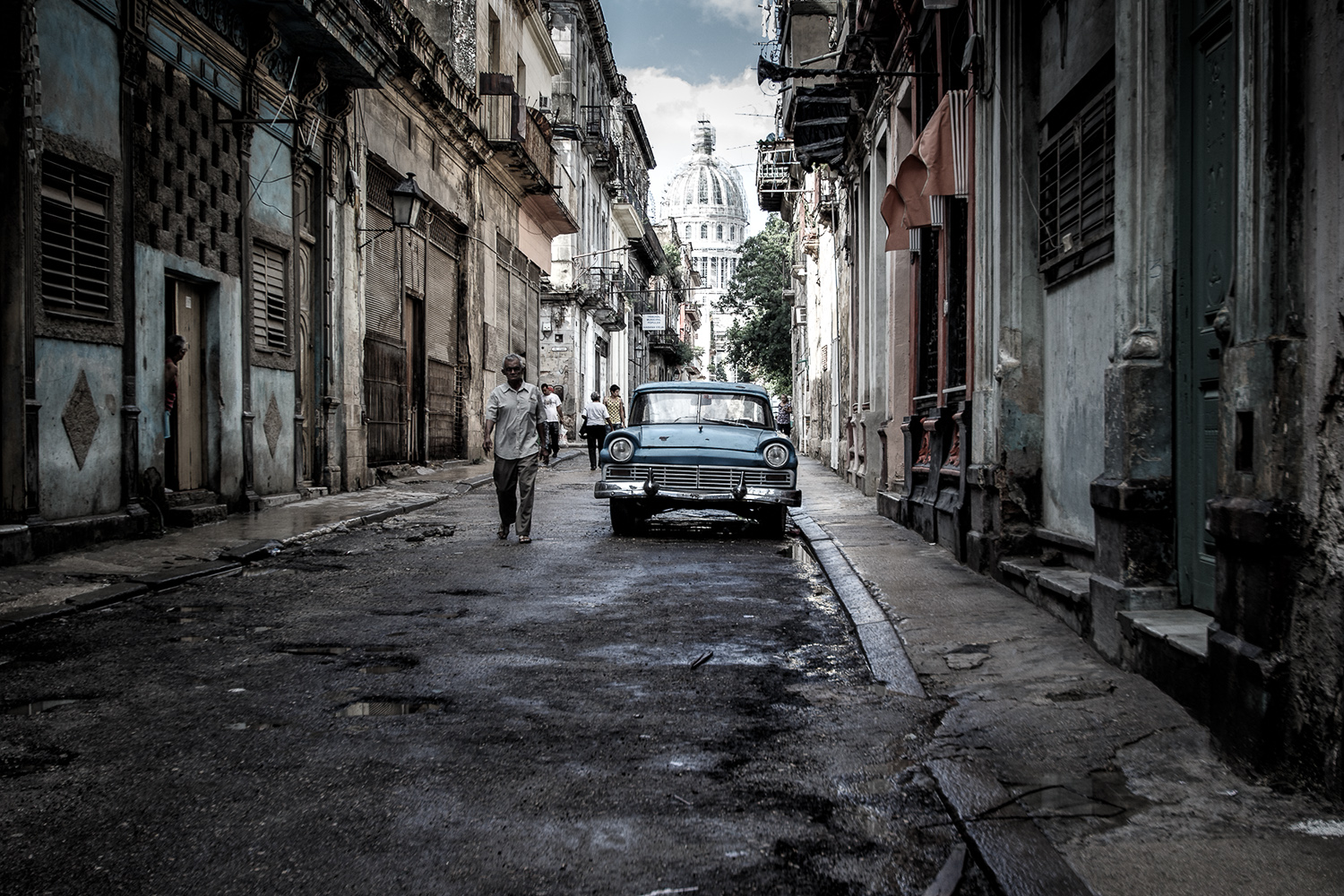Towards the Capital Building, Havana, Cuba
