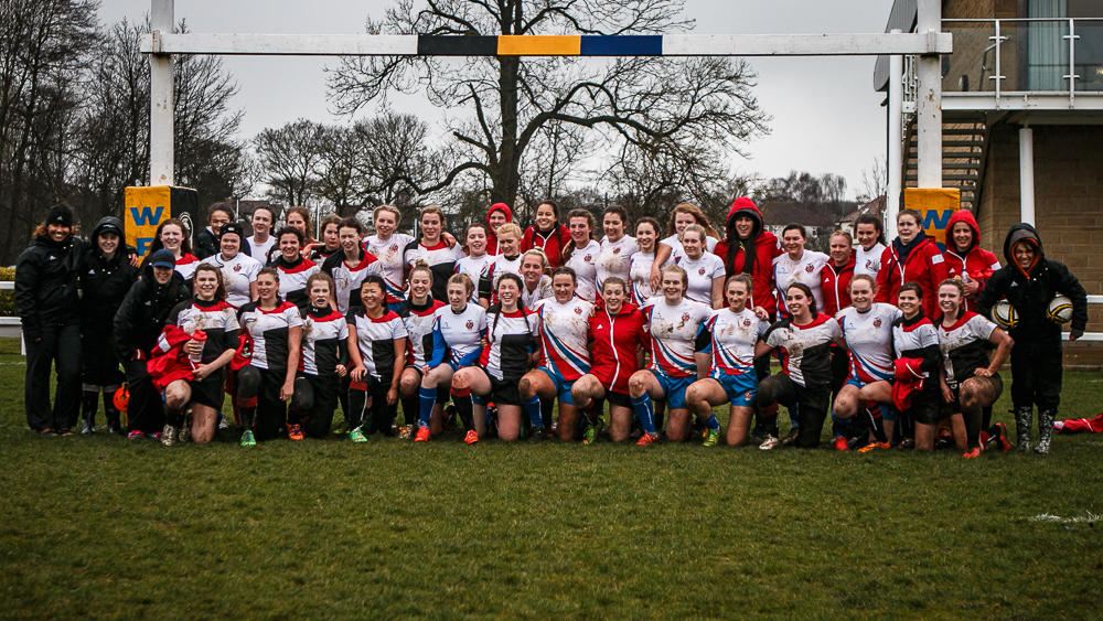 Castleford Girls with Winston Churchill High School of Canada