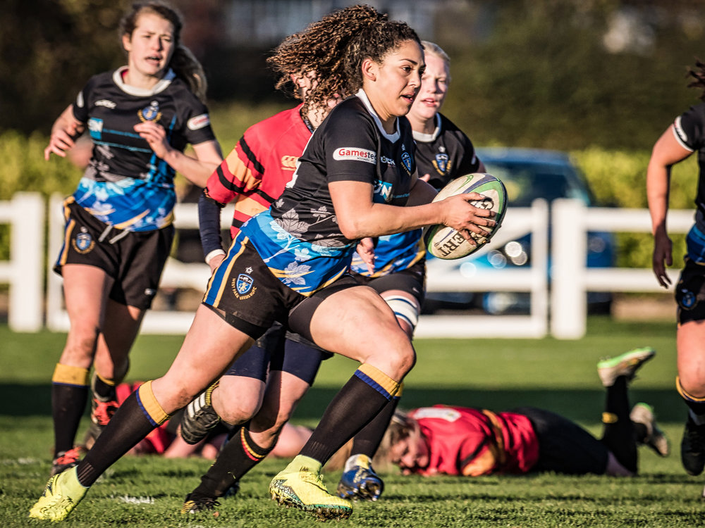 WPL winger Savannah Andrade speeding away for one of several tries