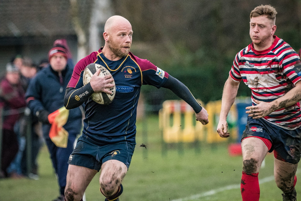 An early run for Wath's scrum half