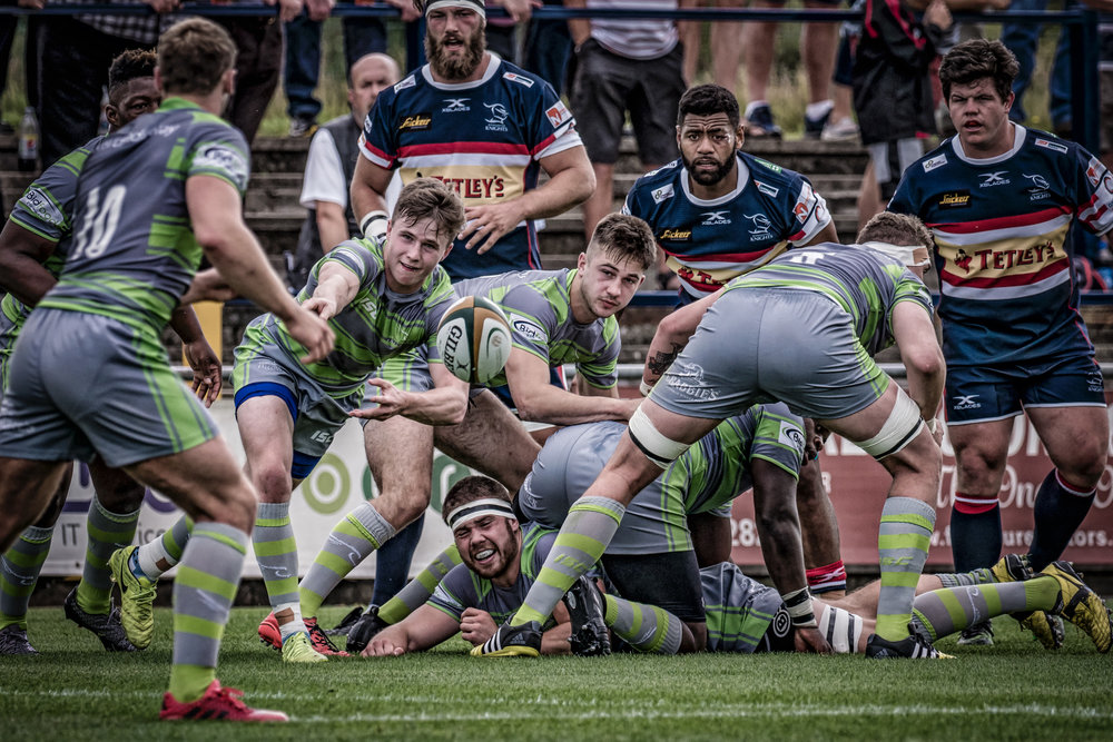 Another scrum half pass - Newcastle Falcons at Doncaster Knights