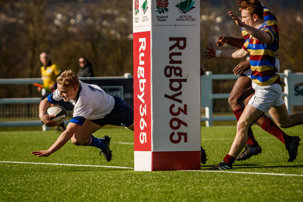 Think this is my favourite try of the afternoon and the middle shot above is my favourite picture. No finer sight than a back running at full pelt with the ball. Well done Tom Willson (Keighley)