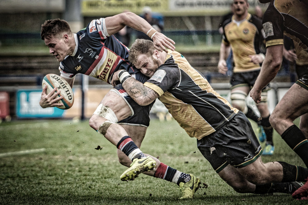 Charlie Foley - determined and (below) a try scorer