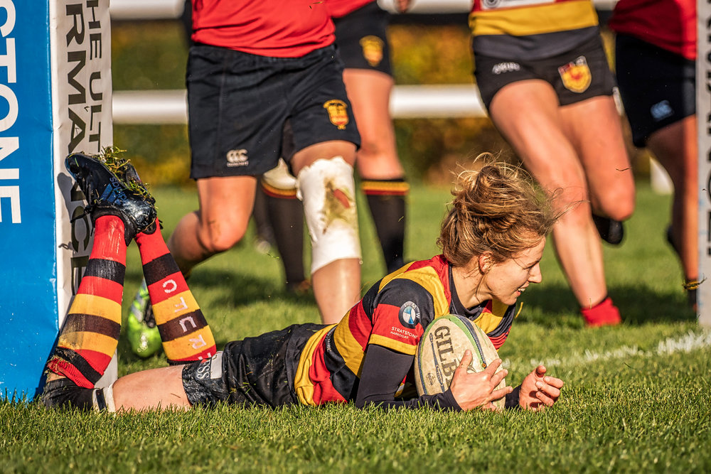 Opening try for Harrogate captain Rose Jay