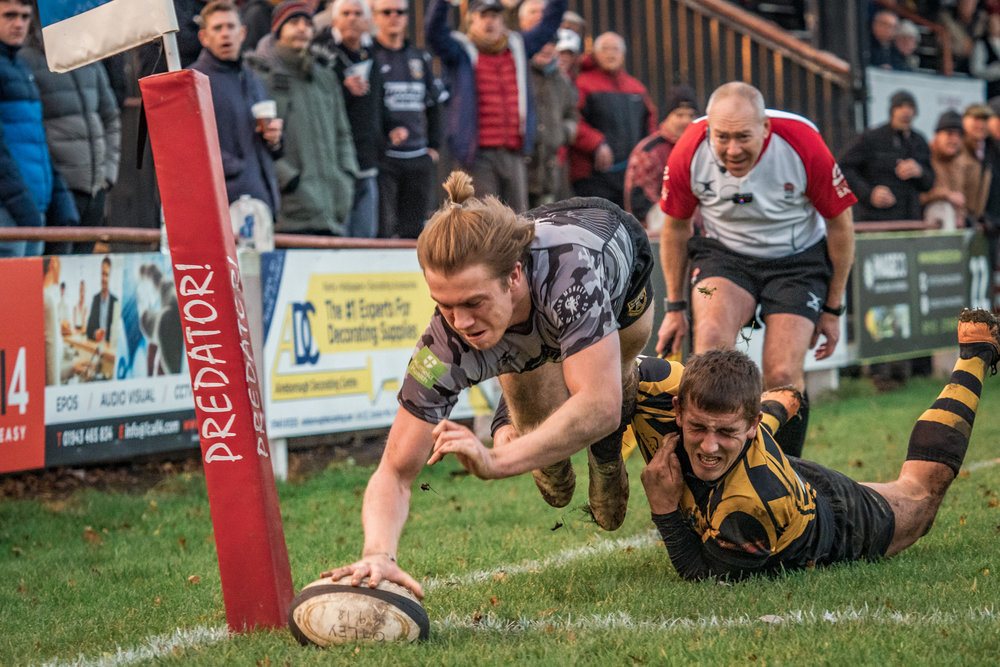 Ben Magee - this shot a 'best of' late entry - a diving try when it was almost dark at Otley