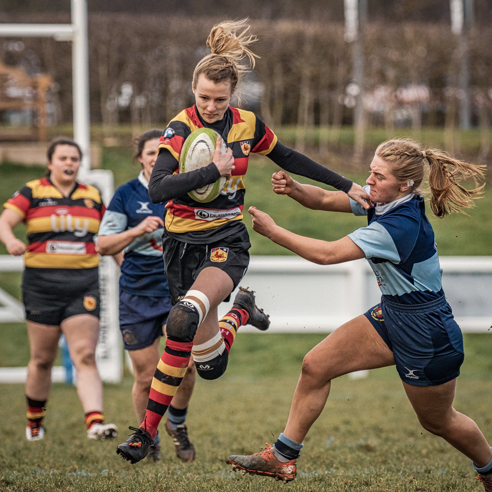 Still a way to go for Rose Jay but she's en route to Harrogate's opening try