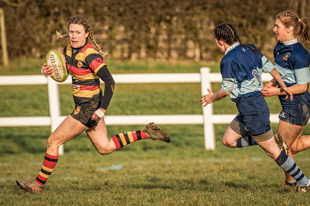 Tries and points with the boot - a successful afternoon for Lauren Bolger