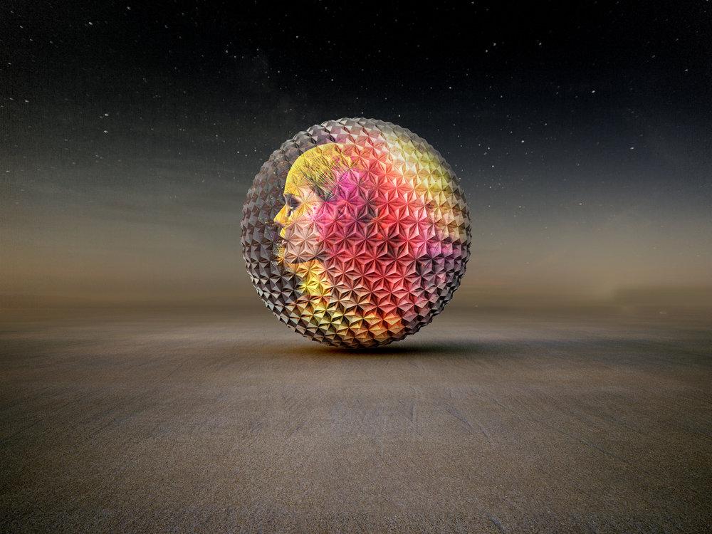 Hylemo Josh Haywood Burning Man 2018 Orb I,robot