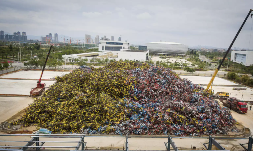 Bike graveyards in China