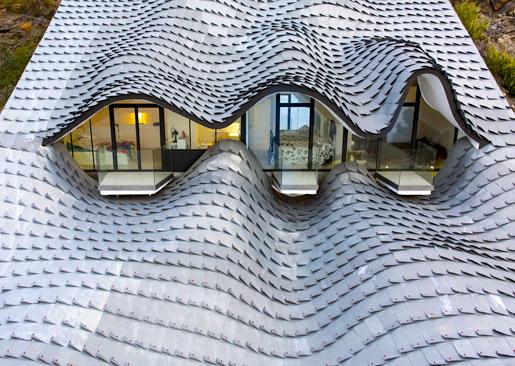 Zinc roofing shingles