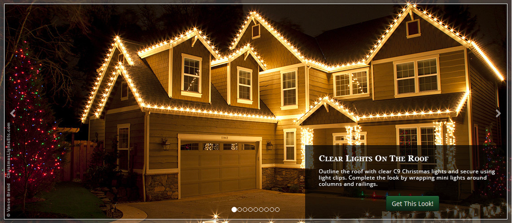 Christmas lights for your house roof