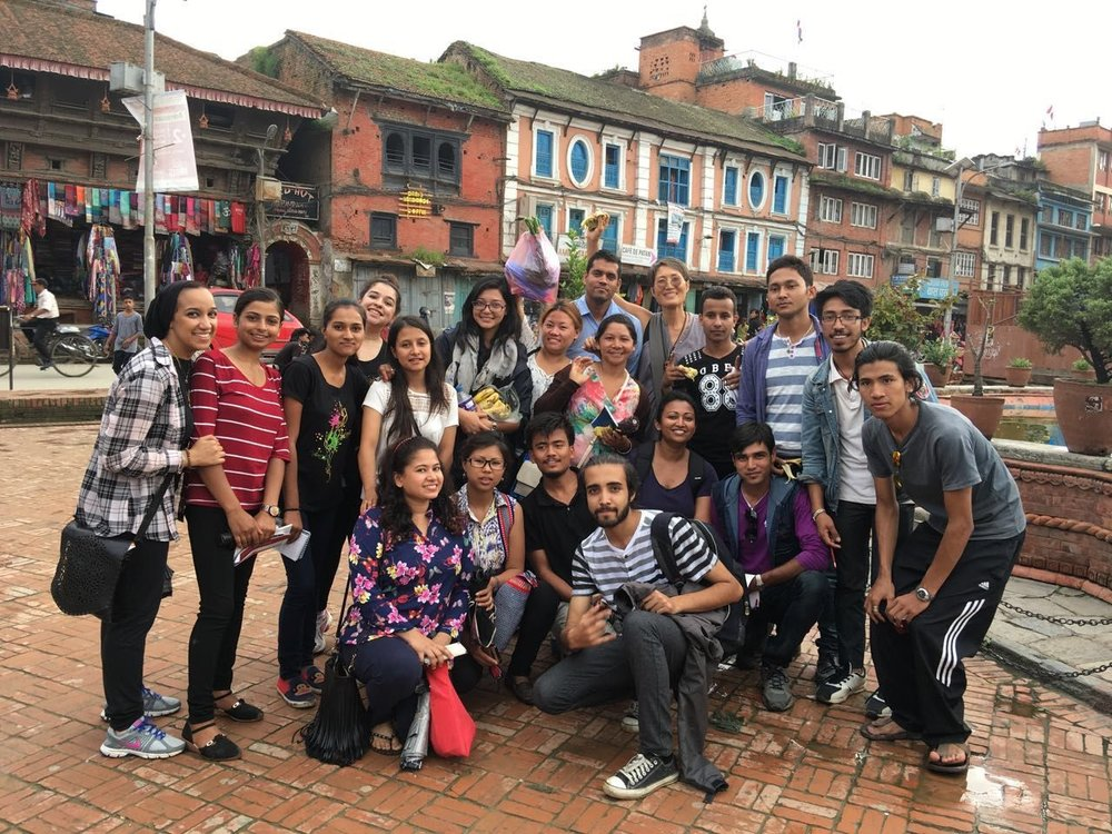 A quick group shot at the market square