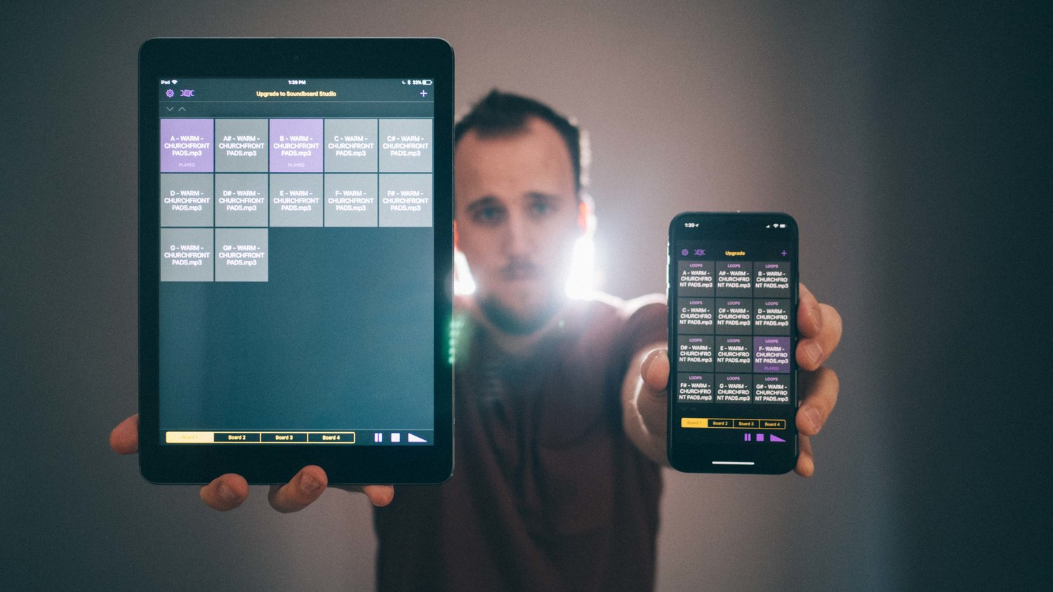 How to play ambient worship pads on an iPhone or iPad — Churchfront
