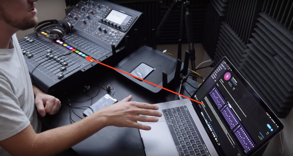 A simplified picture of what we're trying to do. Get sound from Mac to the console.