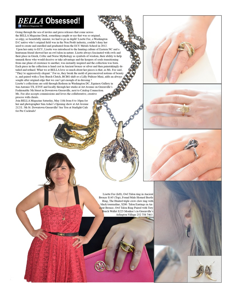 Bella magazine feature