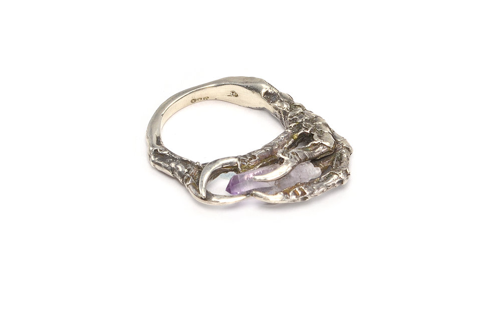 The Hunted Crow Claw ring in sterling silver AND on SALE $175.