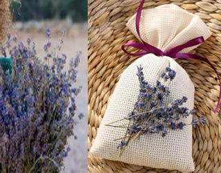 Lavender sachet - so pretty and calming!