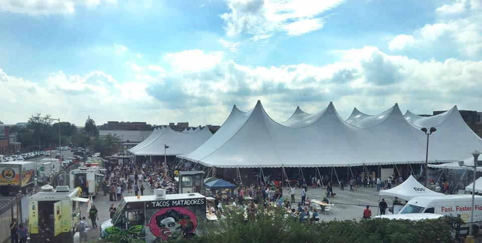 The tents at Union Market last year.