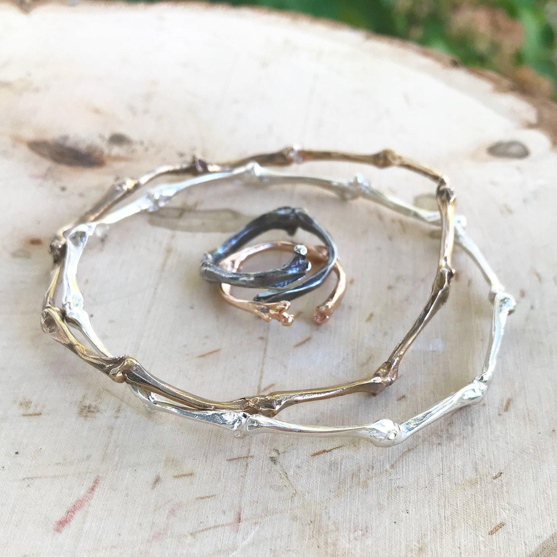 Bird bone and bracelet set