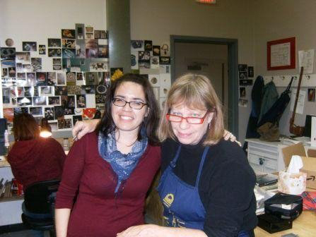 My enameling teacher, Abby Schindler Goldblatt.