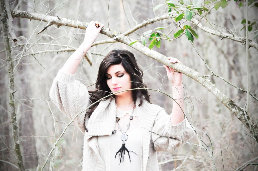 Love this dreamy shot of Ashleigh in the woods by Sim Asher.