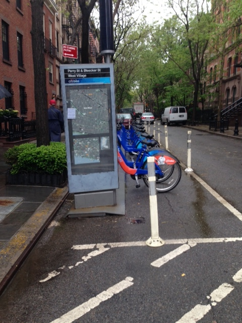 Citi Bike, the New York City bike share program, has bike kiosks all over the neighborhoods.  Dedicated bike lines throughout the streets and easy access to bikes through the share program, make biking an easy option to get around in the city.