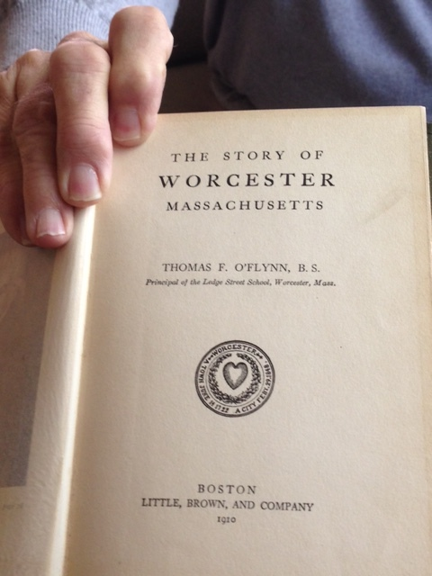 In the spirit of our conversation about the impact of 290, John pointed out that  Thomas O'Flynn, the author of this 1910 volume was the principal of the Ledge Street School that was demolished to make room for the highway.