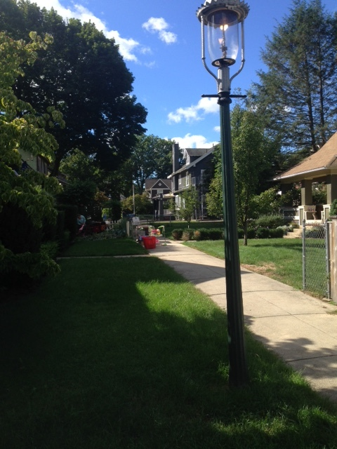 """We have our own gaslights here too!"" mentioned every neighbor I spoke to at the community yard sale."
