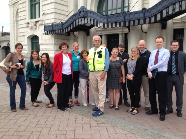 Dan Burden leads a walking audit from Union Station in June 2016