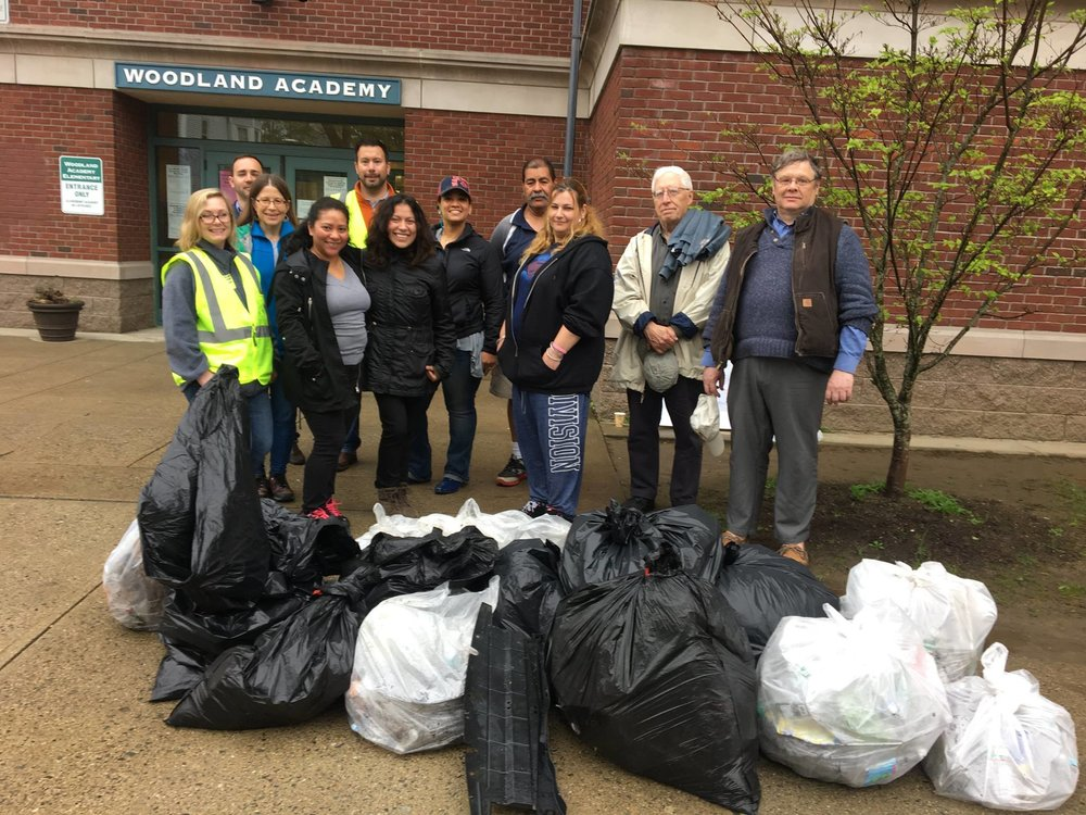 Woodland Academy School Route Clean-up Walk