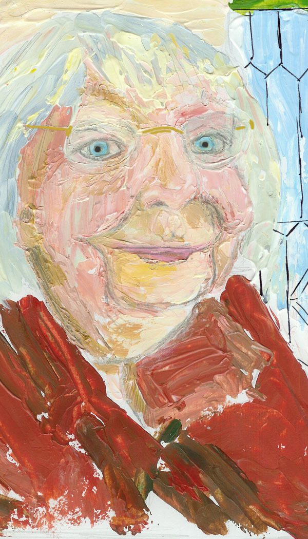 Nancy McBride's painting of her aunt, Jane Jacobs!