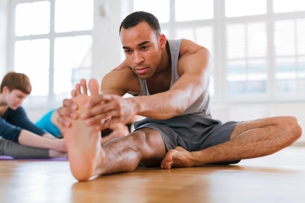 Mens yoga janushirasana