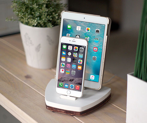 NytStnd DUO 2   Charges iPhone 5 & Up including XS, XS Max & XR and an iPad! White and Midnight versions are within the listing.
