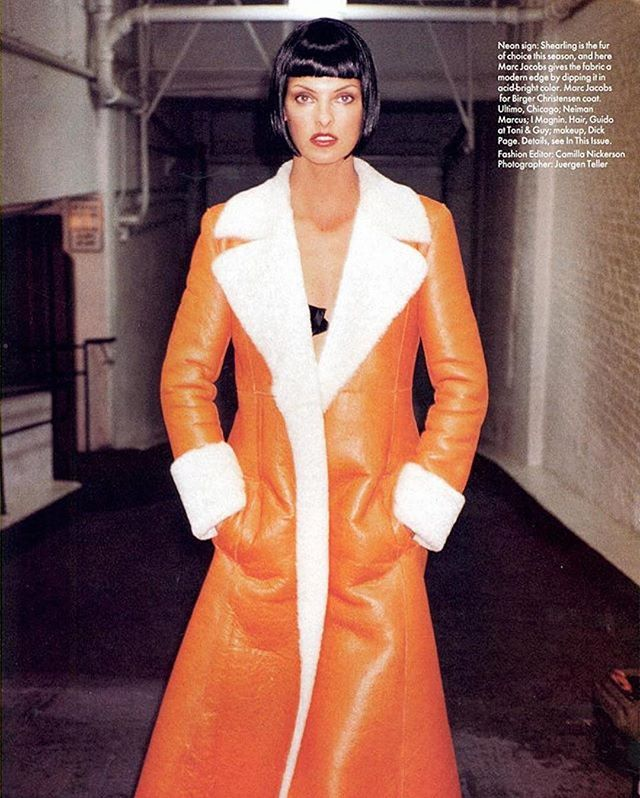 Remember this?! #Repost @dickpageface The Boss @lindaevangelista by #juergenteller and #camillanickerson for @voguemagazine with @guidopalau and me... 💋❤️ #1994  #IndustriaNYC #FacesOfIndustria