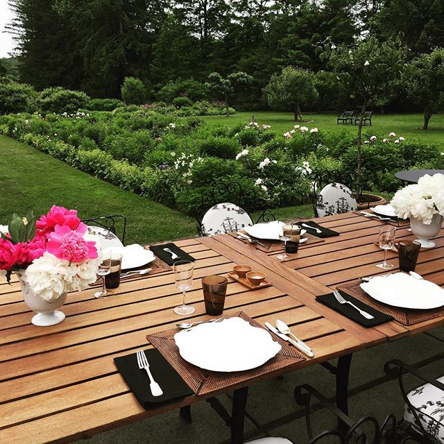 Summer lunch in the garden. Heaven.  @bruceschnitzer  #homesweethome  #ChampalimaudCollection on the chairs @hollandandsherryinteriors.