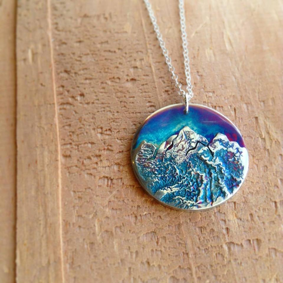Reticulated Mountain Range in Sterling Silver