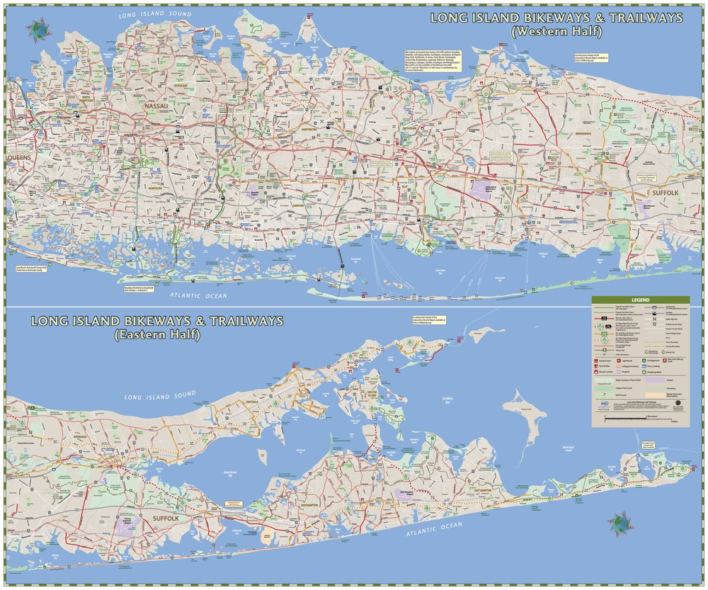 CLICK FOR INTERACTIVE MAP - Bicycling in New York Map, NYS DOT