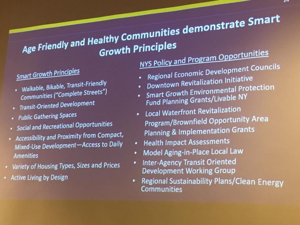 Age friendly and healthy communities are smart growth communities